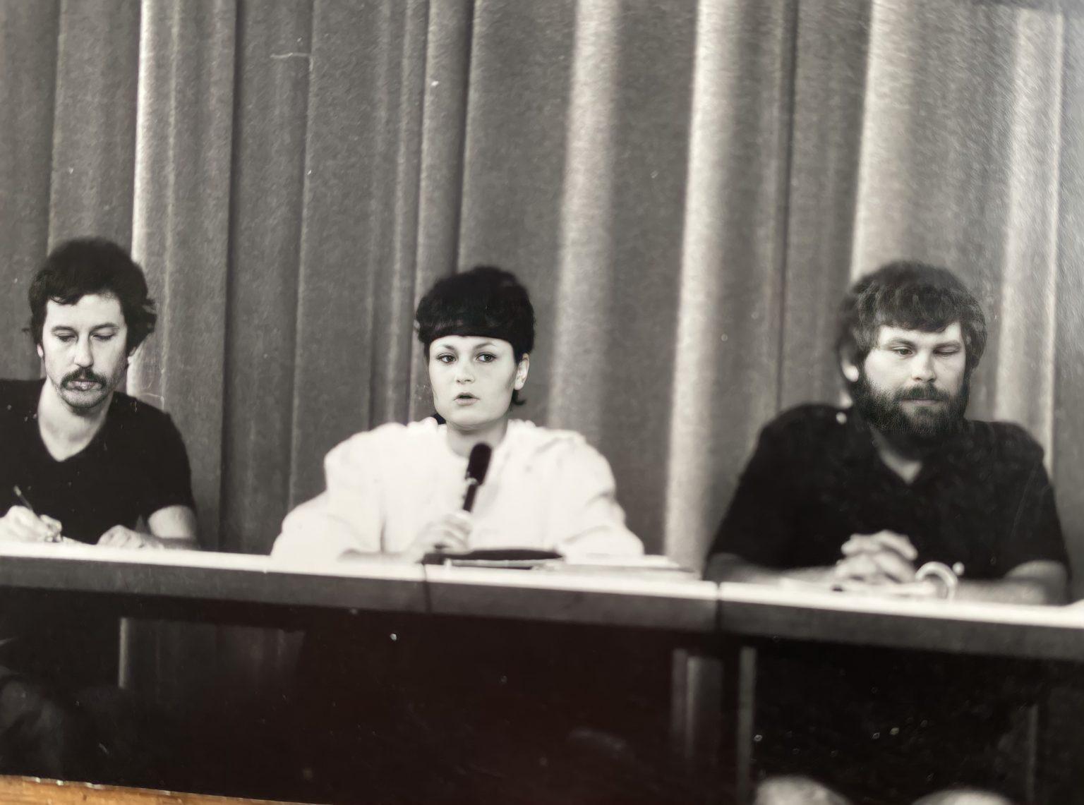Kandidatur als Schulsprecherin 1981, Foto: Michael Distler