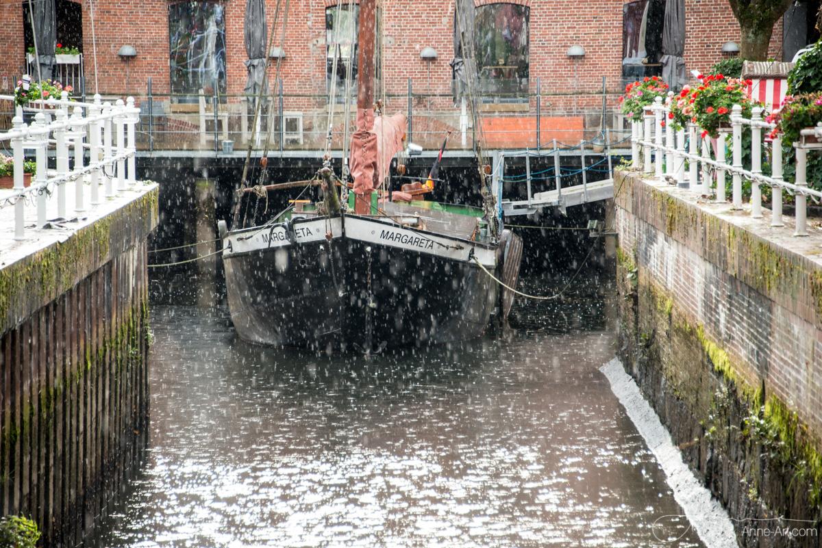Buxtehude im Regen